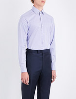 Corneliani Micro houndstooth-pattern slim-fit cotton shirt