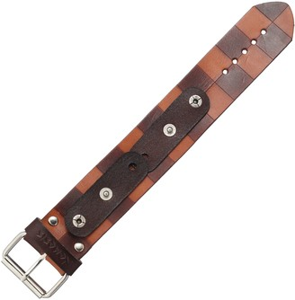 Nemesis CHLB 38mm Checkered Light Patent Leather Brown Watch Bracelet
