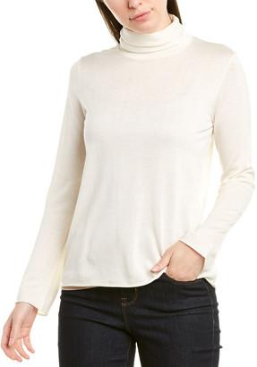 Ecru Silk & Cashmere-Blend Sweater