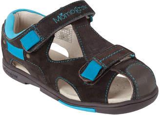 Momo Baby Boys' Toddler/Little Kid Double-Strap Leather Sandal Shoe