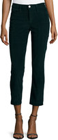 Frame Le High Straight-Leg Cropped Corduroy Pants, Spruce