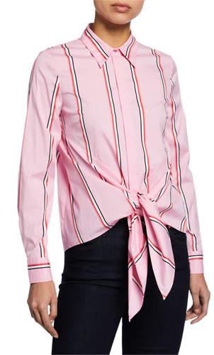 c1d054bb Pink Striped Button-down - ShopStyle