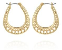 T Tahari Women's Basket Weave Hoop Earring