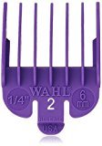 "Wahl Professional Color Coded Comb Attachment #3124-703 - Purple #2 - 1/4"" (6.0mm) - Great for Professional Stylists and Barbers"