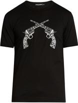 Dolce & Gabbana Gun-embroidered appliqué cotton-jersey T-shirt
