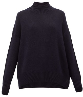 Allude High-neck Cashmere Sweater - Womens - Navy