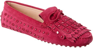 Tod's Tods Gommini Studded Suede Loafer