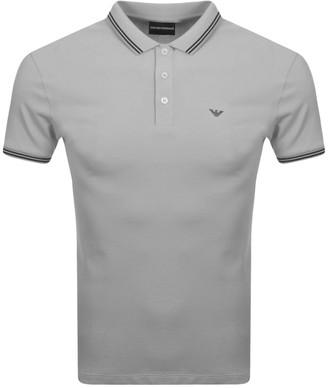 Giorgio Armani Emporio Short Sleeved Polo T Shirt Grey