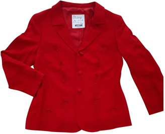 Moschino Cheap & Chic Moschino Cheap And Chic Red Cotton Jacket for Women