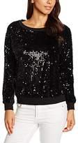 Fornarina Women's Katrin-Black Paillettes T-Shirt