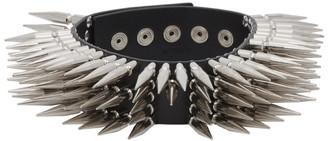 Vetements Black Leather Spike Choker