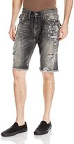 True Religion Men's Ricky Flap Pocket Block Party Short