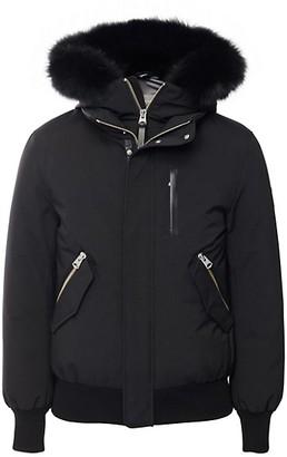 Mackage Dixon Fox Fur-Trimmed Down Bomber Jacket