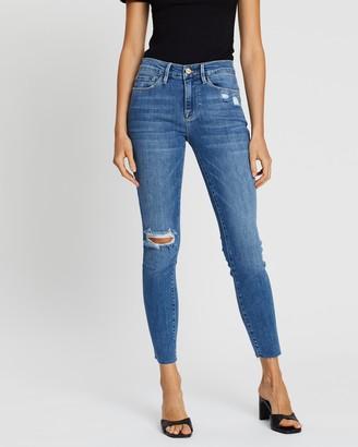 Frame Le Skinny De Jeanne Crop Raw Edge Jeans