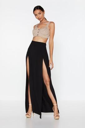 Nasty Gal Womens Got to Split Maxi Slit Skirt - black - 4