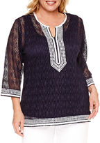 Alfred Dunner Seas The Day Tunic Top Plus