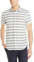 Scotch & Soda Men's Denim Inspired Short Sleeve Woven