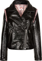 Shrimps Black Faux Leather Rose Jacket