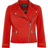 River Island Womens Red boucle biker jacket