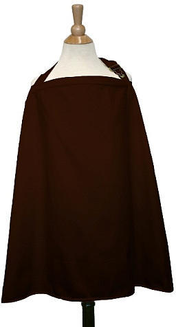 The Peanut Shell Nursing Cover in Chocolate