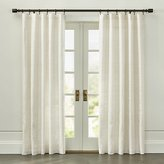 Crate & Barrel Silvana Ivory Silk Curtain Panel