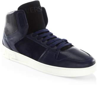 Versace Stylish High-Top Sneakers