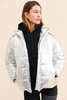 Daisy Street Apollo Metallic Puffer