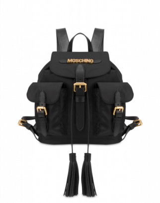 Moschino Backpack With Lettering Logo Woman Black Size U It - (one Size Us)