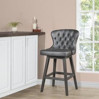 Gracie Oaks Hayleigh Swivel Counter & Bar Stool Seat Height: Bar Stool (29.5a Seat Height)