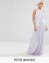 Tfnc Petite Wedding High Neck Pleated Maxi Dress