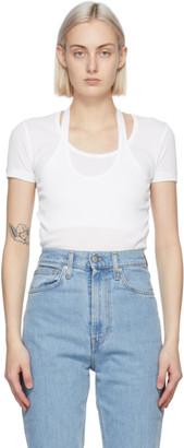 Helmut Lang White Halter T-Shirt