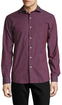 Slate & Stone Cotton Speckled Spread Collar Sportshirt