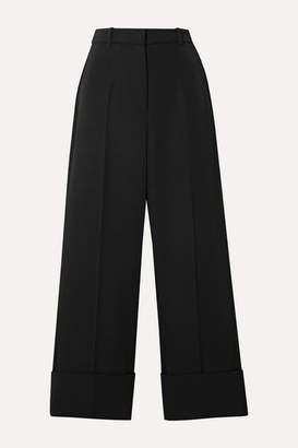 Michael Kors Cropped Wool-twill Straight-leg Pants - Black