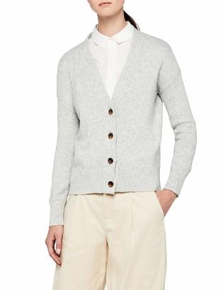 Meraki Amazon Brand Women's Boxy Fit Cotton Blend V-Neck Cardigan