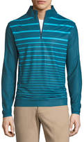 Peter Millar Perth Engineered Striped Quarter-Zip Sweatshirt