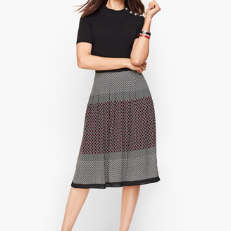 Talbots Geo Print Pleated Full Skirt