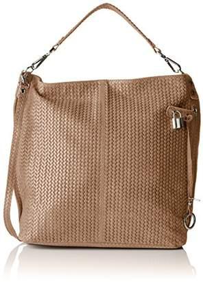 CHICCA Borse 80051, Women's Cross-Body Bag, Grigio (Fango), (W x H L)