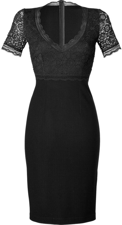 Blumarine Black Lace Bodice Dress