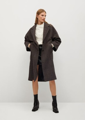 MANGO Oversize wool coat