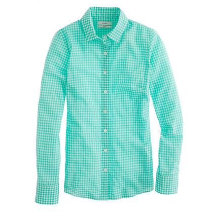 J.Crew Perfect shirt in suckered gingham