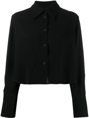 Song For The Mute Cropped Long Sleeve Shirt
