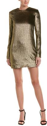Saint Laurent Velvet Silk-Blend Sheath Dress