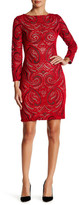 Julia Jordan Long Sleeve Lace Sheath Dress