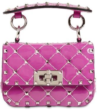 Valentino Micro Rockstud Spike Patent Leather Bag