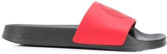 MICHAEL Michael Kors Perforated-Logo Slides