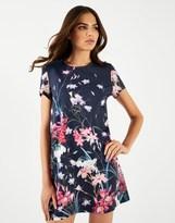 Lipsy Floral Printed T-shirt Dress