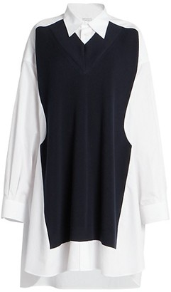 Maison Margiela Spliced Knit Shirt Dress