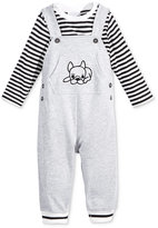 First Impressions 2-Pc. Striped T-Shirt & Dog Overall Set, Baby Boys (0-24 months), Only at Macy's