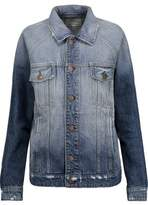 Current/Elliott The Raglan Distressed Denim Jacket