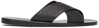 Ancient Greek Sandals Black Thais Sandals